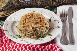 אורז בניחוח בוכרי - אורז שקדים וירקות - ללא גלוטן