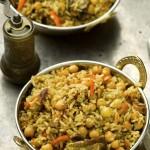 אורז מלא עם חומוס