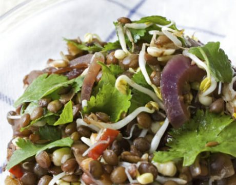 Lentil Salad - אורז שקדים וירקות - ללא גלוטן