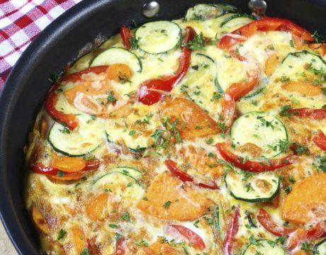 סלטים ומנות ראשונות - Vegetable Frittata