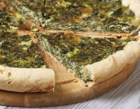 מנות עיקריות - tasty and healthy chopped spinach pie